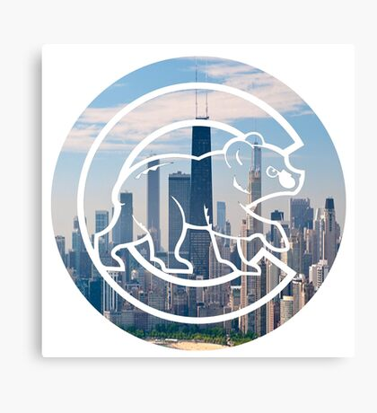 Chicago Cubs Skyline Logo Canvas Print