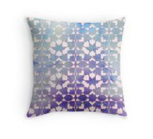 Blue Gradient Tile Pattern Throw Pillow