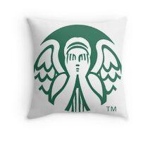 Starbucks Don't Blink Throw Pillow