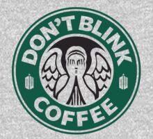 Weeping Angel of Original Starbucks Logo Baby Tee