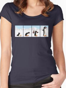 The penguin evolution Women's Fitted Scoop T-Shirt