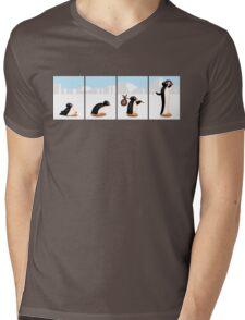 The penguin evolution Mens V-Neck T-Shirt