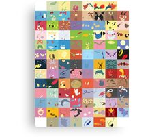 All Johto Wallpapers Canvas Print