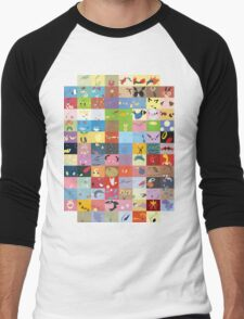 All Johto Wallpapers Men's Baseball ¾ T-Shirt