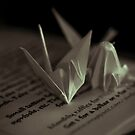 Paper Cranes by redhairedgirl