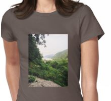 overlooking the river Womens Fitted T-Shirt