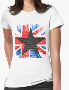 David Bowie Black Star Space Oddity Womens Fitted T-Shirt