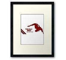 The Solo Mid League of Legend Zed Framed Print