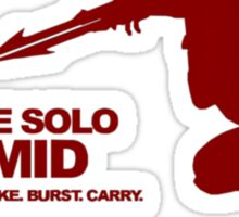 The Solo Mid League of Legend Zed Sticker