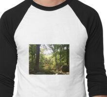 field through the trees Men's Baseball ¾ T-Shirt