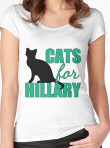 Cats for Hillary Clinton Women's Fitted Scoop T-Shirt