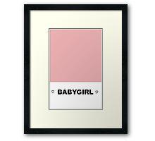 ♡ BABY GIRL ♡ Framed Print