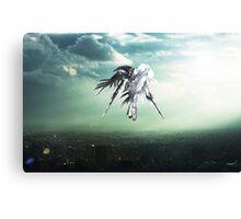 Gundam Wing above the city  Canvas Print