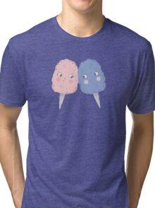 Cute Cotton Candy - Rose Quartz & Serenity Tri-blend T-Shirt