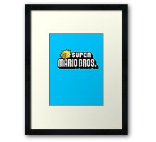 SUPER MARIO BROS. QUESTION BOX! Framed Print