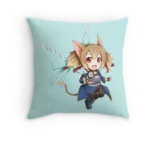 Chibi Silica ALfheim Online Throw Pillow