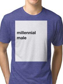 Pitchfork Millennial Male Joke Shirt Tri-blend T-Shirt