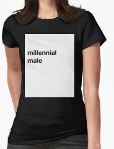 Pitchfork Millennial Male Joke Shirt Womens Fitted T-Shirt