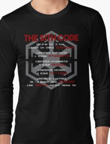 The Sith Code  Long Sleeve T-Shirt