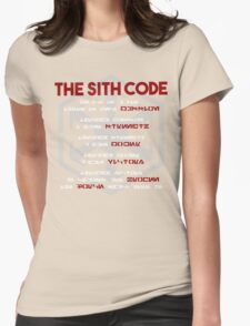 The Sith Code  Womens Fitted T-Shirt