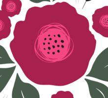 Flowers in folk stile with spikelet pattern. Sticker