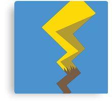 Minimalist Pikachu Tail Canvas Print