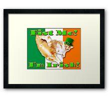 fist me i'm irish Framed Print