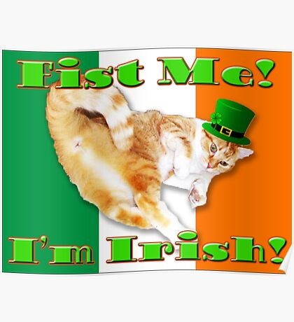 fist me i'm irish Poster