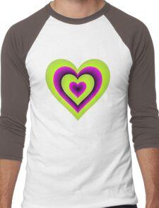 Expanding Heart Men's Baseball ¾ T-Shirt