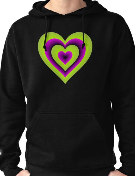 Expanding Heart Pullover Hoodie