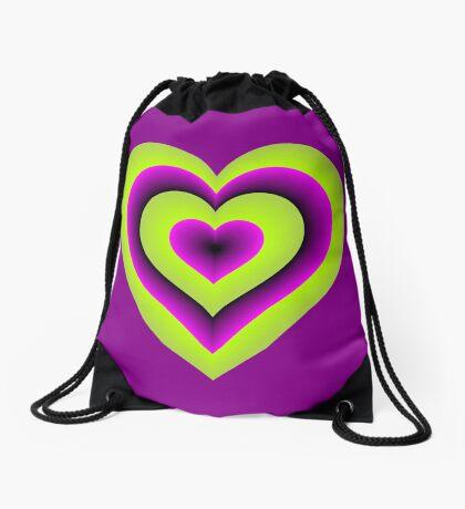 Expanding Heart Drawstring Bag