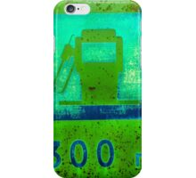 Old Gas Station Sign iPhone Case/Skin