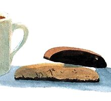 Hot Chocolate and Biscotti by Yvonne Carter