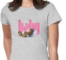 Sleeping Ted - Baby Pink Womens Fitted T-Shirt
