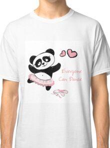 Panda Girl ballet dancer hand drawn Classic T-Shirt