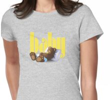 Sleeping Ted - Baby Yellow Womens Fitted T-Shirt