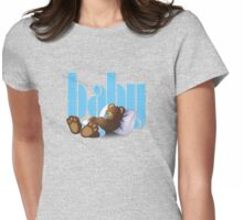 Sleeping Ted - Baby Blue Womens Fitted T-Shirt