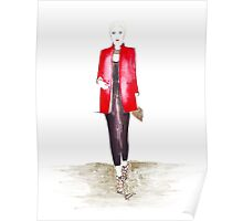 Red Box Coat Poster