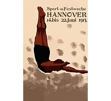 Retro Hannover Germany Sports Diving Neue Sachlichkeit Photographic Print