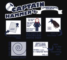 Captain Hammer's Appreciation Society Kids Tee