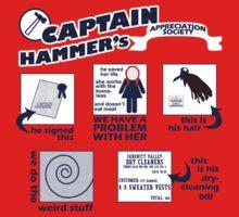 Captain Hammer's Appreciation Society Baby Tee