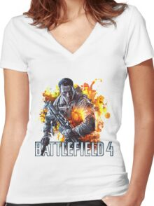 Battlefield 4 Women's Fitted V-Neck T-Shirt