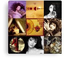 Kate Bush Album Compilation Canvas Print