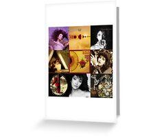 Kate Bush Album Compilation Greeting Card