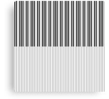 The Piano Black and White Keyboard Stripes with Vertical Stripes Canvas Print