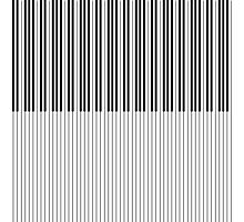 The Piano Black and White Keyboard Stripes with Vertical Stripes Photographic Print