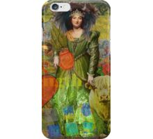 Vintage Taurus Gothic Whimsical Collage Woman Surreal iPhone Case/Skin