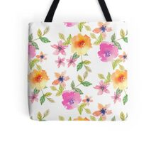 Watercolor summer flowers Tote Bag