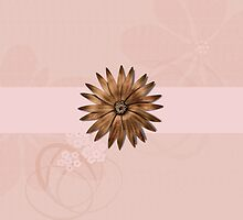 Delicate Abstract Flower, #flower, #abstract, #pink, #golden by Lena127