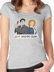 Sci-fi Innuendo Squad Women's Fitted Scoop T-Shirt